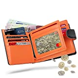 Wallets Mens RFID Blocking Genuine Leather with Zip Coin Pocket Purse & Banknote