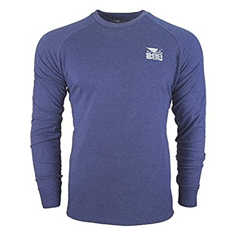 Bad Boy Icon T-shirt - Long Sleeves-Blue-XXL