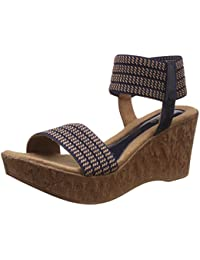 Catwalk Women's Ankle Strap Wedges