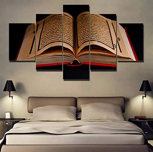 Rureng Leinwandbilder Wandkunst 5 Stücke Koran Islamische Schriften Gemälde Hd Drucke Holybook Koran Poster Wohnzimmer Dekor20X30 20X40 20X50 cm
