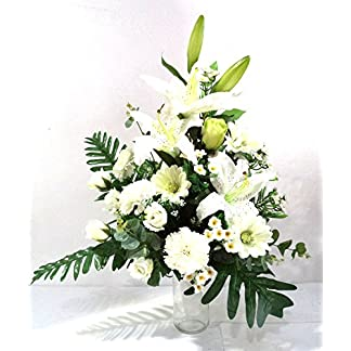 LBA Centro de Flores Artificiales para Cementerio, Preparado para Introducir en los Botes de Tumbas o Nichos.