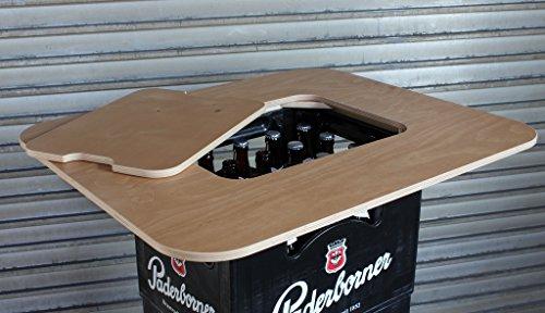 Original BestLoft® Bierkasten Stehtisch Partytisch Bistrotisch Tischaufsatz 70x58cm (Aufsatz+Servierbrett) - 5