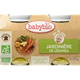 Babybio Pots Jardinière de Légumes 260 g - Lot de 6