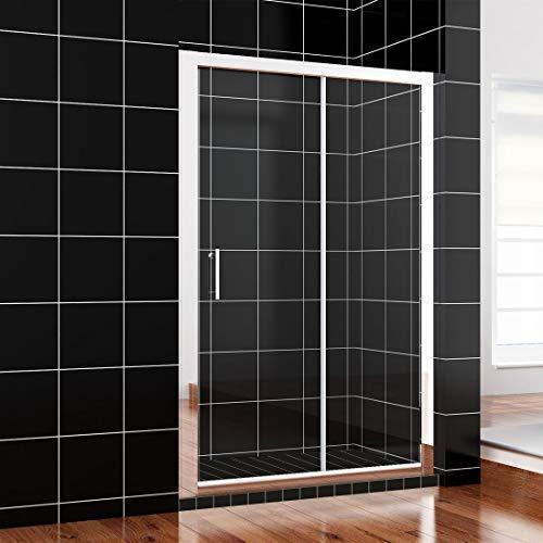 SONNI140x185cm Schiebetür Dusche Klarglas Duschwand
