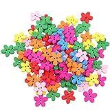 100pz botones de madera de flores colores para el costura Scrapbooking DIY 15mm Mestiere