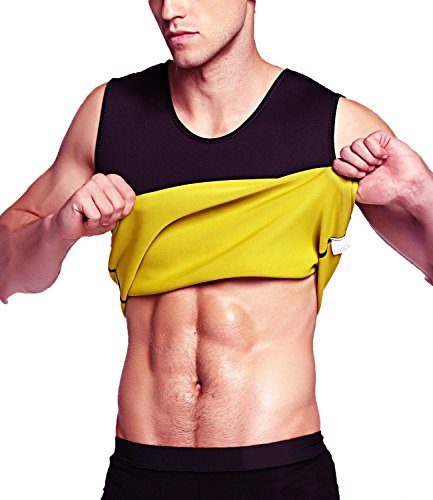 Aliver Men Compression Top Waist Trainer Vest for Weight Loss Hot Neoprene Corset Body Shaper Sauna Tank Top Workout Shirt (XL.)