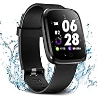 Verpro Smart Watch, Waterproof Fitness Activity Tracker with Heart Rate Monitor, Wearable Oxygen Blood Pressure Wrist Watch, Bluetooth Running Sport Band, Black
