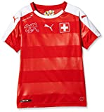Puma Kinder Trikot Suisse Home Replica Shirt, Red/White, 152, 748747 01