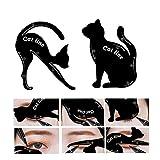 Plantilla con diseños para delineador de ojos de gato y sombra de...