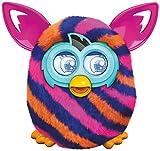 Furby Boom - Mascota electrónica, color naranja con rayas diagonales azules (Hasbro A6119500)