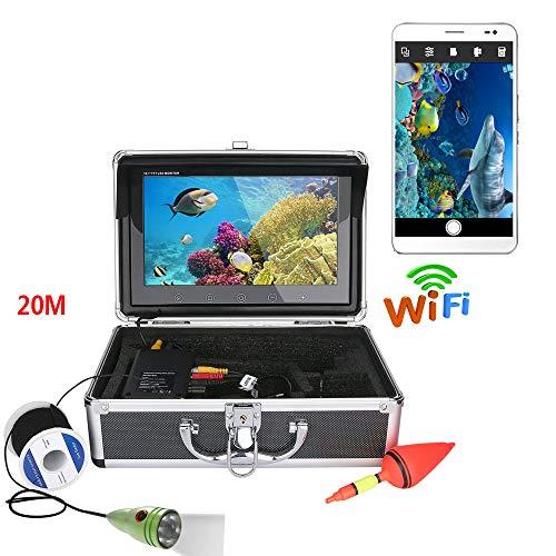 Farb-fishfinder (TQTQ 10Inch Farb Monitor 20M 1000Tvl Unterwasserfischerei Videokamera-Kit, HD WiFi Wireless Für IOS Android-APP Unterstützt Video-Aufzeichnung Und Machen Foto)
