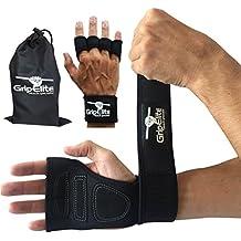 GripElite - Gants crossfit - musculation avec protection poignet, paume et doigts - gants sport, entrainement physique croisé et haltérophilie - homme et femme