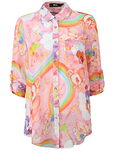 Iron Fist Bluse CLOUDS OF CARING BLOUSE (Small, Mehrfarbig)