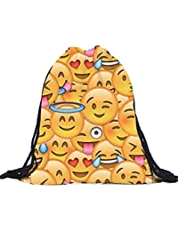 Bolsos Para mujer, RETUROM Moda Unisex Emoji impresión 3D morral del lazo bolsas