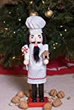 "Baker Chef Nutcracker by Clever Creations | Baker Wearing White Apron with Red Trim and White Chefs Hat | Collectable Festive Christmas Decor | 100% Wood Perfect for Shelves and Tables | 15"" Tall Bild 5"