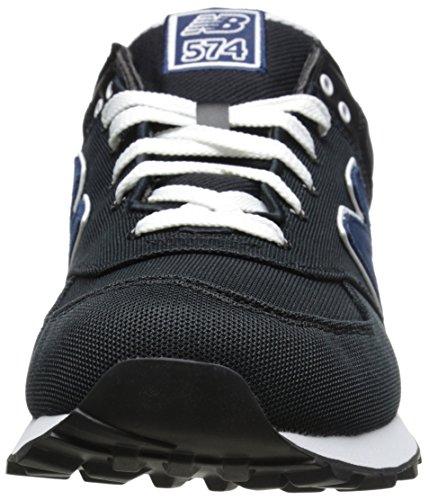 New Balance ML574 D, Baskets mode homme Canvas Black
