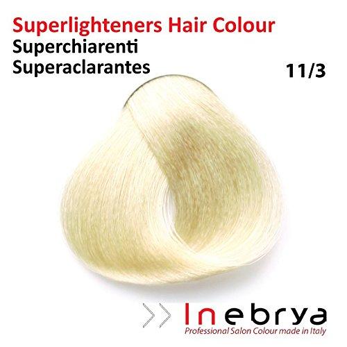 Coloration, 11.3 : Super Platine Très Clair Doré - 100ml, Inebrya