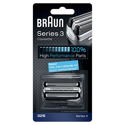 Braun 32S Series 3 Electric Shaver Replacement Foil and Cutter Cassette – Silver