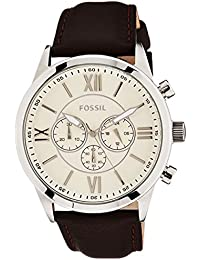 Fossil Grant Analog Off-White Dial Men's Watch-BQ1129