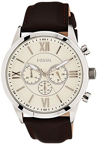 Fossil Grant Analog Off-White Dial Men's Watch_BQ1129