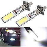 katur 2x H112V 10W H1COB LED Coche Luz de niebla bombillas 6000K LED Auto Coche Conducción Lámpara H1luces de circulación para Auto