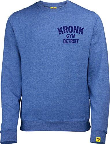 Kronk Boxing Gym Detroit Rundhalsausschnitt Sweatshirt Wladimir Klitschko Thomas Hearns Emanuel Steward Gr. Large, Royal Heather Blue (T-shirt Crew Lee)
