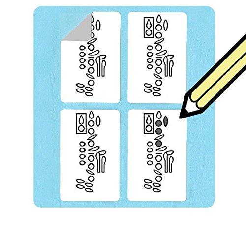 Klarinette Griffweise Aufkleber Set (500Pack) Super praktisch, für Studenten und Lehrer. (500-blatt-notebook)