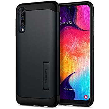Spigen Coque Samsung A50, Coque Galaxy A50 [Slim Armor] Protection Résistante, Support Kickstand