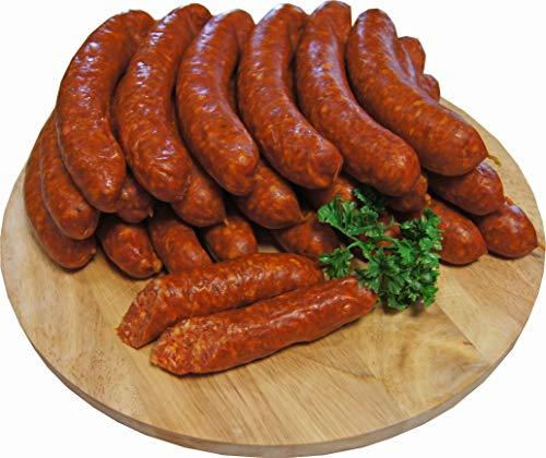 Chili Wurst | Knacker | Chiliknacker | Chiliwürstchen | Krainer | Premium Mettwurst geräuchert aus Bautzen | 10 x 100g