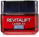 L'Oréal Paris Revitalift Laser X3 Crema Maschera Viso Notte Antirughe Anti-Età con Acido Ialuronico e Pro-Xylane, 50 ml