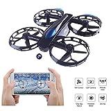 JJRC Drone, Selfie Drohne mit 720P Kamera, Wifi FPV Drone (Höhe halten, 5 Minuten Flugzeit, G-Sensor-Modus, Headless-Modus) Klappbare Arms Pocket Drohne H45 für Kinder Spielzeug by LITEBEE