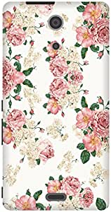 The Racoon Grip Blossom hard plastic printed back case / cover for Sony Xperia ZR