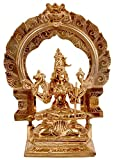Exotic India Goddess Rajarajeshwari (Tripura Sundari) - Brass Statue