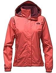 The North Face W Resolve Jacket - Chaqueta para mujer, color naranja, talla L