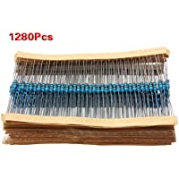 SODIAL (R) 1280pcs 64 Valori (1R ~ 10MR) Ohm 1