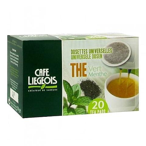 Pack 120 thé vert à la menthe Dosettes Souples Senséo Compatibles