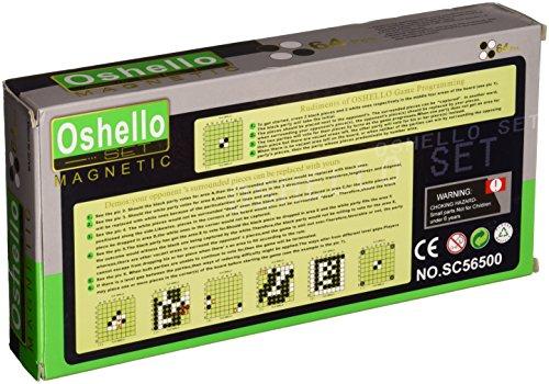 Azerus Standard Line: Klassisches Reversi, Spielbrett mit magnetische Spielsteinen, Standard Brett Größe M (25cm x 25cm x 2cm), Spielbrett dient gleichzeitig als Reisebox und Aufbewahrungsschachtel aus Metall, Art. 56500 DE
