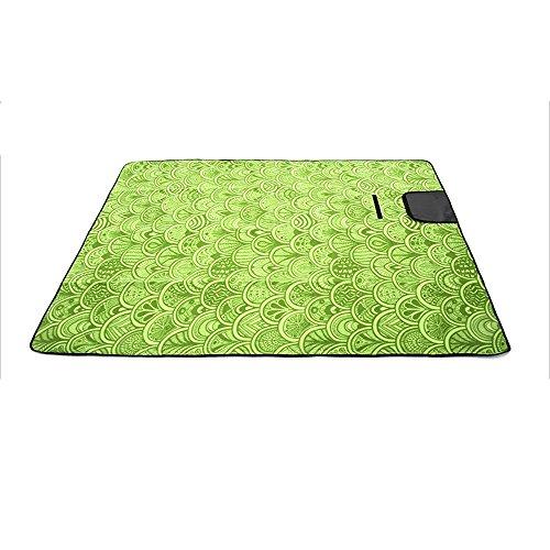 Suede aluminium pique-nique tapis enfants ramper mode mat (200 * 150cm) ( couleur : Vert )