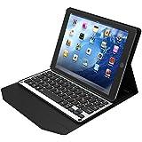 IVSO Apple iPad Pro 9.7-Inch Aluminum Bluetooth Keyboard Portfolio Case - ALUMINUM Bluetooth Keyboard Stand Case / Cover for Apple iPad Pro 9.7-Inch Tablet (Alu - Black)