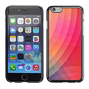 Omega Covers - Snap on Hard Back Case Cover Shell FOR Apple Iphone 6 Plus / 6S Plus ( 5.5 ) - Pattern Purple Pink Orange