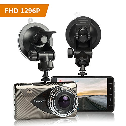 1296P Full HD Night Vision Dash Cam, Innoo Tech Car Camera, 170°Ultra Wide Angle, G-sensor, Motion Detection, LDWS & FCWS, Parking Mode, 16G SD Card Included