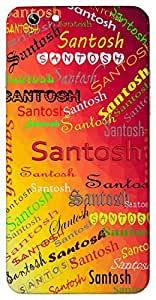 Santosh (Satisfaction) Name & Sign Printed All over customize & Personalized!! Protective back cover for your Smart Phone : Moto X-STYLE