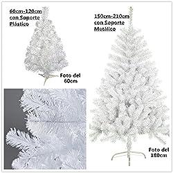 Árbol de Navidad artificial blanco Envio Gratis* C/soporte metálico árboles 60cm-210cm (180CM 477 RAMAS)