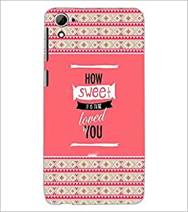 Printdhaba Quote D-6039 Back Case Cover For Htc Desire 826