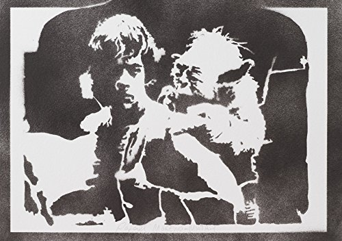 Luke Skywalker Und Yoda STAR WARS Handmade Street Art - Artwork - Poster