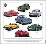 CLASSIC MG SPORTS CARS Fine Art Print --- TD, MGA, MGB, MGC, Midget, MG RV8 & MGF. Ready to frame. by golden era