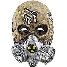 c3113f3f211af Halloween Máscara De Látex Espeluznante 3D Cráneo General Cabeza Deluxe  Novedad Traje Partido Papel Juego Juguetes