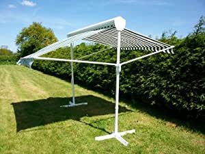 Retractable Sun Shade Free Standing Awning Parasol: Amazon ...