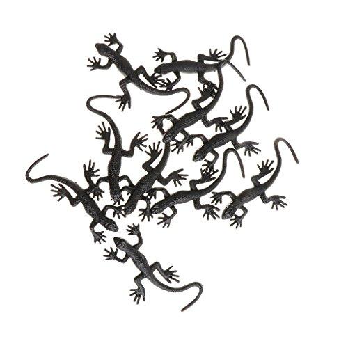 Unbekannt Sharplace 10 Stück Tricky Spielzeug Kunststoff Maus Eidechse Spielzeug Geschenk Halloween Party für Kinder und Freunde - Gecko - 1