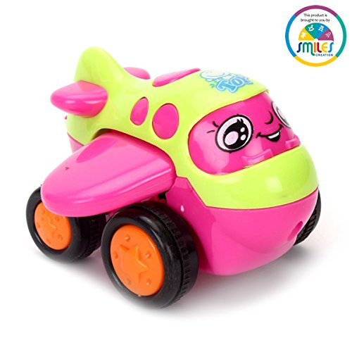 Smiles Creation™ Push And Go Friction mini plane(pink)